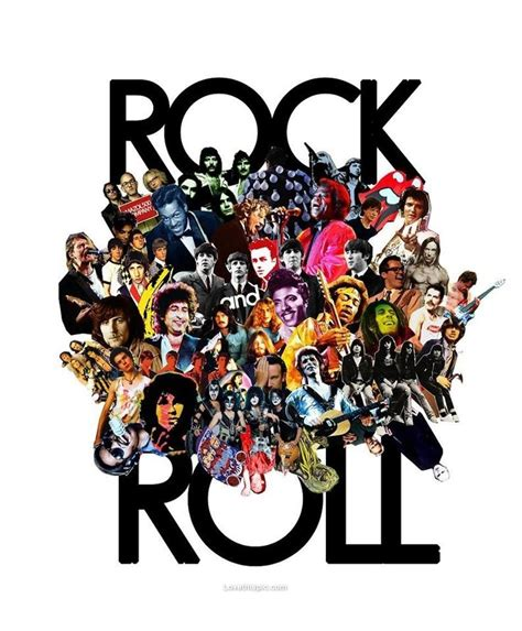 Rock N Roll Legends Music Famous Bands Collage Rock