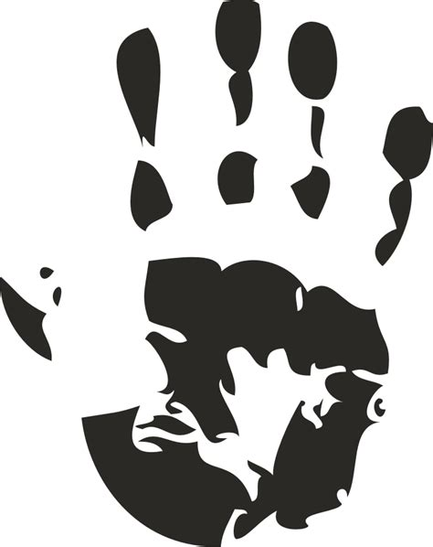 handprint printable   clip art
