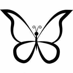 Butterfly outline design from top view Icons | Free Download