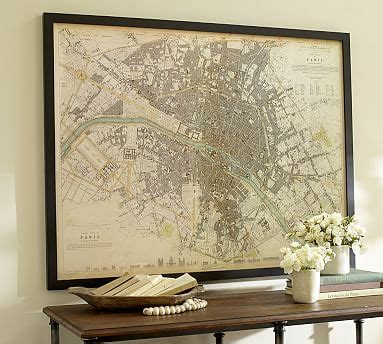 Check spelling or type a new query. Vintage Inspired Paris Map Framed Print | Pottery Barn