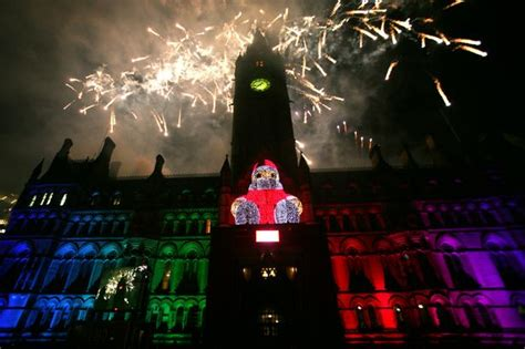 who is switching on the manchester lights 2015