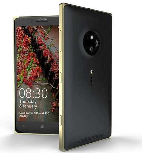 microsoft launches limited edition gold lumia 830 and lumia 930 phonebunch