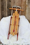 Image result for wood and metal sleds in snow