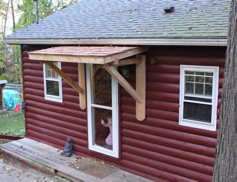 Wood Awnings For Homes by Weekndr Project Front Door Cedar Awning Welcome To
