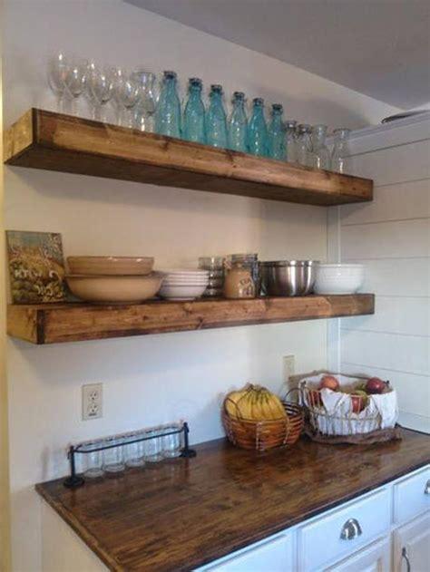 wood floating shelves  inches deep rustic shelf