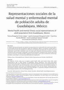 Pdf  Representaciones Sociales De La Salud Mental Y