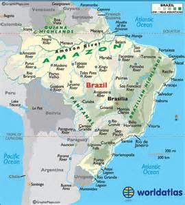 Brazil Landforms Map
