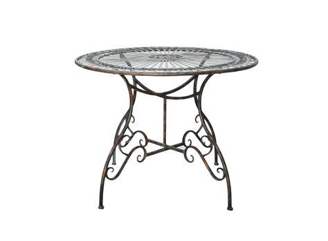 table ronde en fer forg 233 vert de gris demeure et jardin