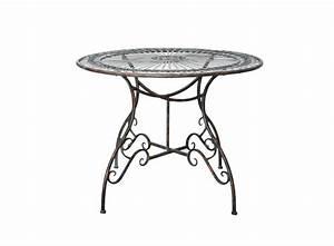 Table Jardin Fer Forgé : belle table ronde en fer forg vert de gris demeure et ~ Dailycaller-alerts.com Idées de Décoration