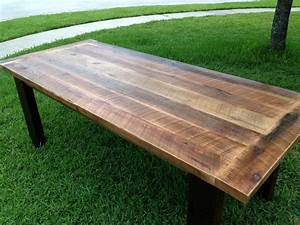 custom reclaimed oak dining table by fama creations llc With dining tables made from reclaimed wood