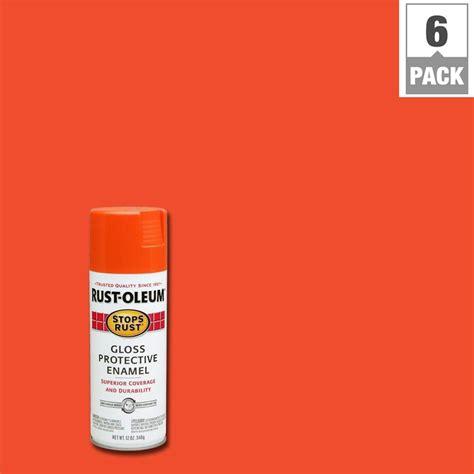 rust oleum stops rust 12 oz protective enamel orange