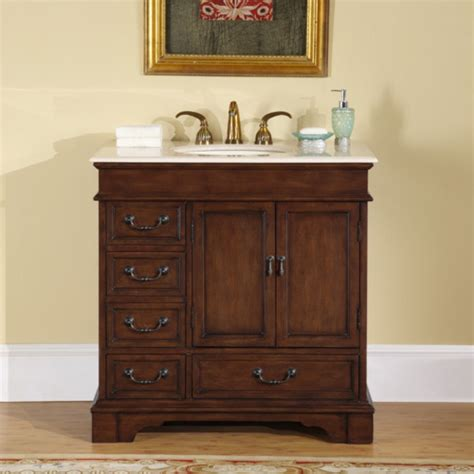 single sink bathroom vanity  marble counter