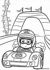 Coloring Race Driver Guppies Bubble Nonny Racing Driving Printable Getcolorings sketch template