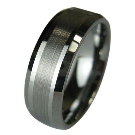 tungsten carbide wedding band mens ring titanium color wideth 8mm size 8 13 diamonds engagement