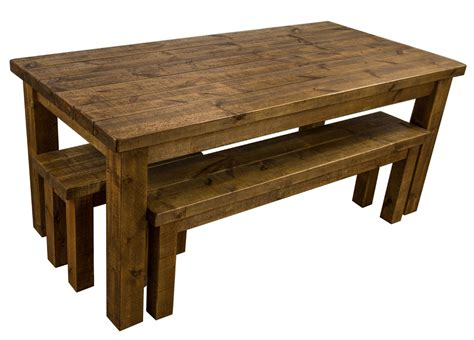 rustic farmhouse dining table tortuga rustic 6x3 wooden farmhouse dining table with 2