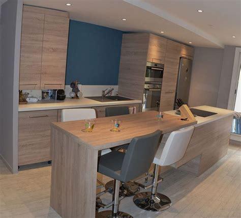 cuisine dans salon aménagement cuisine et salon style nordique la seyne sur mer