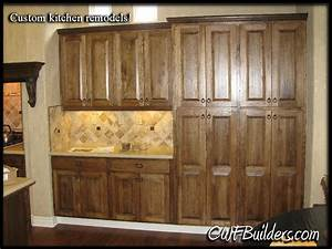 Hickory Doors & Rustic Hickory Cabinets Kitchen