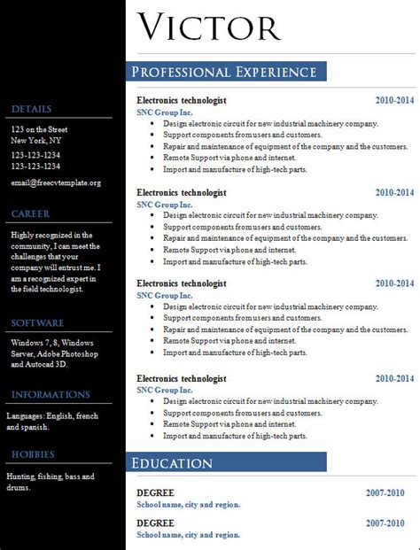 Creative Marketing Resume by Free 18 Sle Creative Resume Templates In Doc