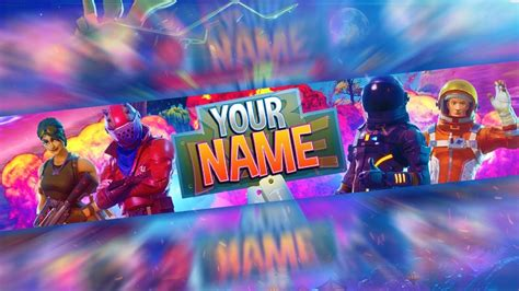 fortnite  channel art banner template photoshop
