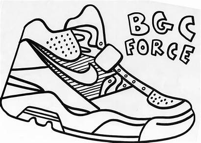Nike Coloring Pages Printable Shoes Shoe Air