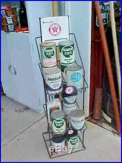 vintage  antique texaco oil  display rack gas pump service station texaco gas pump