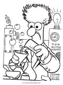 chemie  gratis malvorlage  berufe handwerk menschen