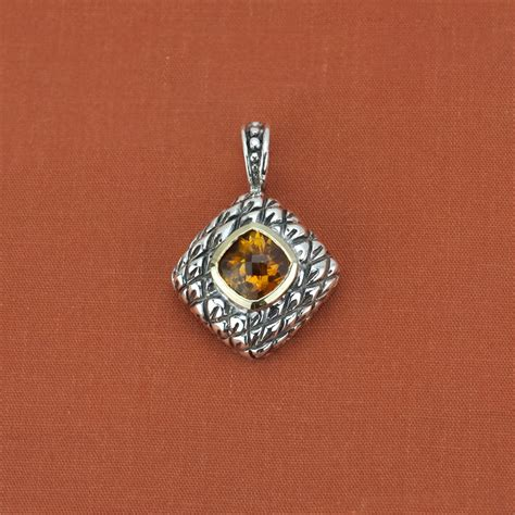 designer jewelry brands frederica sterling silver 18k yellow gold citrine