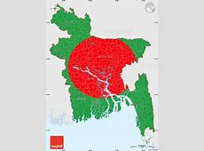 Flag Simple Map of Bangladesh, single color outside, flag