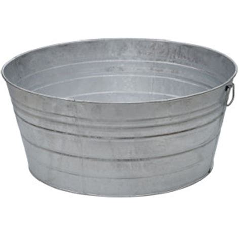King Metalworks 28 Gal Galvanized Metal Tub At Tractor