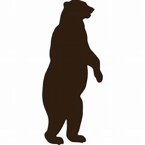 Standing Grizzly Bear Silhouette images   Room   Pinterest ...