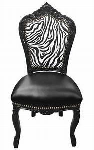 Chaise Baroque Noir : fauteuil princier de style baroque simili noir z bre et bois noir ~ Teatrodelosmanantiales.com Idées de Décoration
