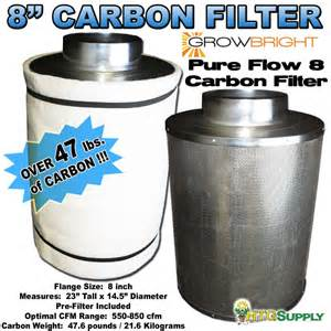 small carbon filter fan combo 8 quot carbon filter fan combo inline odor scrubber 590 cfm ebay