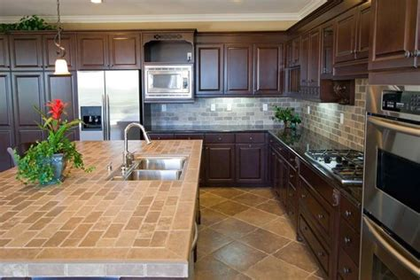 ceramic tile on countertops in kitchen 20 pictures of simple tile kitchen countertops home 9394