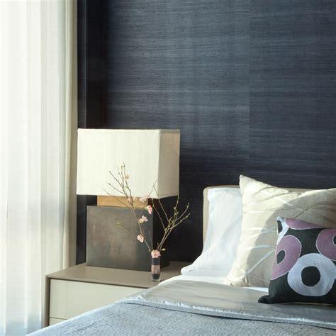real grass deep navy blue grasscloth wall paper textured