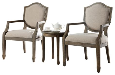 Kourtney Accent Arm Chair And Table Set, Antique-style