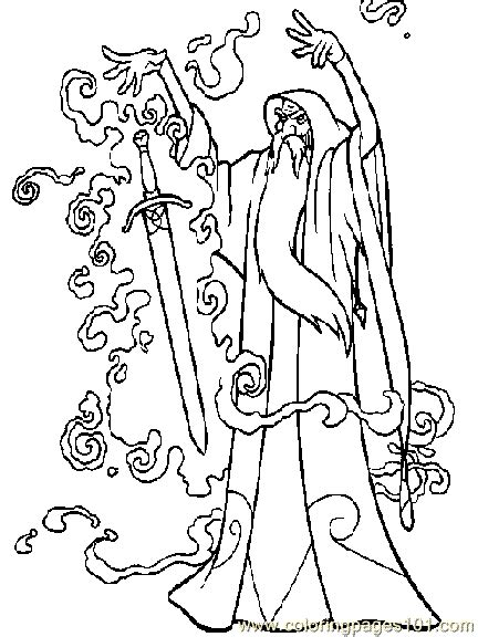 Coloring Quest by Quest For Camelot 4 Printable Coloring Pages