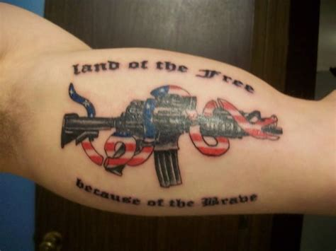assault rifle nra  tattoo ideas  designs tattoos