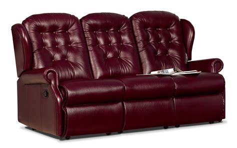 Reclining Settees by Lynton Small Leather Reclining 3 Seater Settee Sherborne