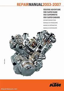 2003-2007 Ktm Lc8 950 990 V-twin Motorcycle Engine Repair Manual
