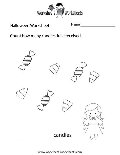 halloween counting worksheet  printable educational