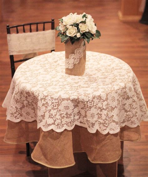 round lace table overlays 10 wide burlap roll 100 yards 44 95 your fabric