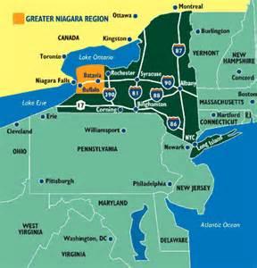 Niagara Falls NY Area Map