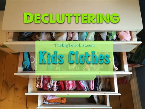 Konmari Method Update Decluttering Kids Clothes  The Big