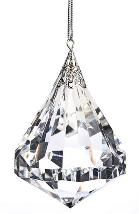 Large Hanging L Ikea by 2 Large Acrylic Faceted Hanging Ornament Ebay