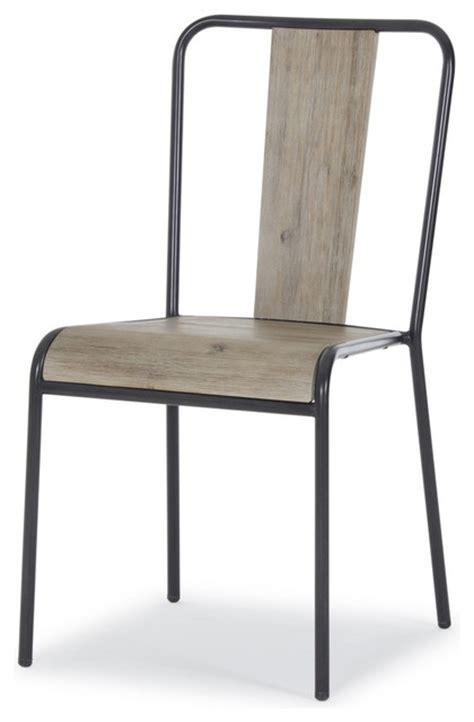 brunel industrial modern stacking chair set of three