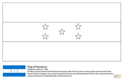 Flag Of Honduras Coloring Page Free Printable Coloring Pages
