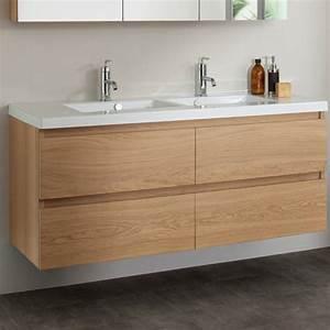 awesome meuble salle de bain bois massif ideas seiunkel With photos vasque salle de bain