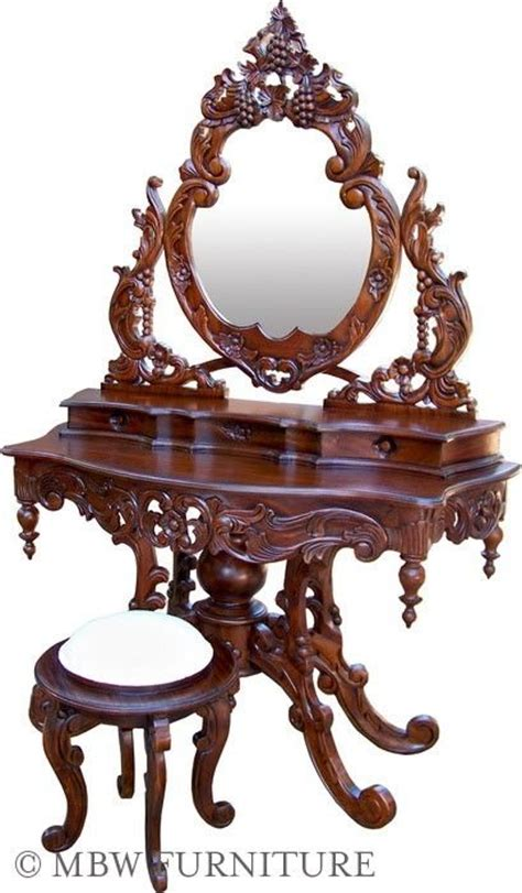 custom  solid mahogany french mirror vanity dressing