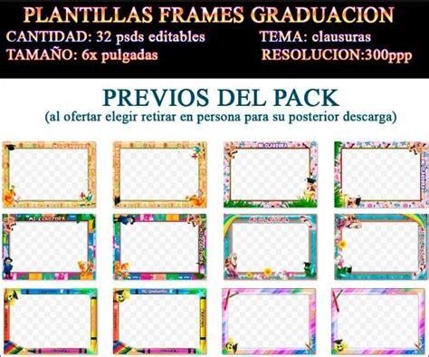 plantillas psd invitaciones graduacion plantillas marcos frames psd clausura kinder graduacion