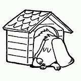 Dog Coloring Drawing Sleeping Pages Kennel Doghouse Clipart Draw Template Simple Clipartmag Printable Snoopy Sketch Popular Getdrawings sketch template
